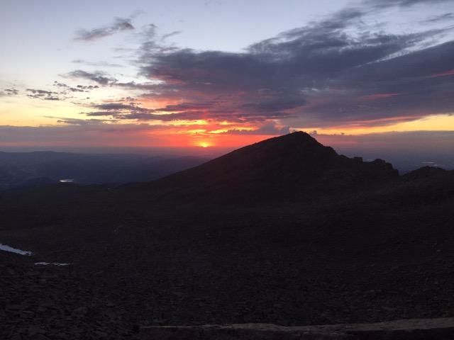 Colorado Wilderness Rides And Guides image of Twin Sisters from Longs summit at Sunrise
