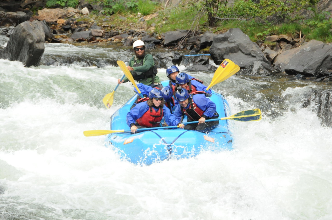 Whitewater Rafting The Clear Creek River Close To Denver Colorado.
