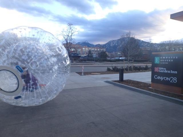 Grand Opening Boulder Embassy Suites - Zorb Bal