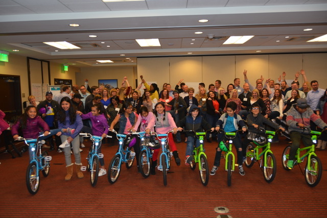 Group of kids at Boulder Build A Bike Corporate Social Responsibility Event